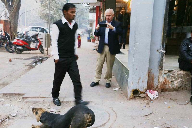 City Moment – Steve McCurry Shoots a Goat, Somewhere in Delhi