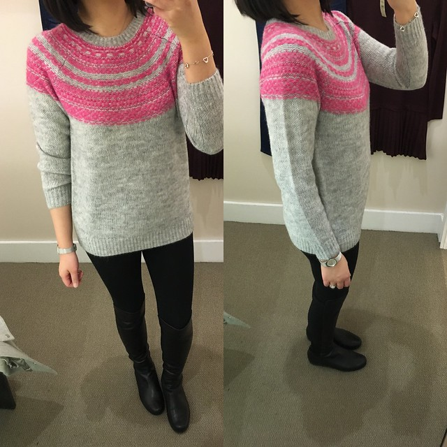 LOFT Blurred Fairisle Sweater