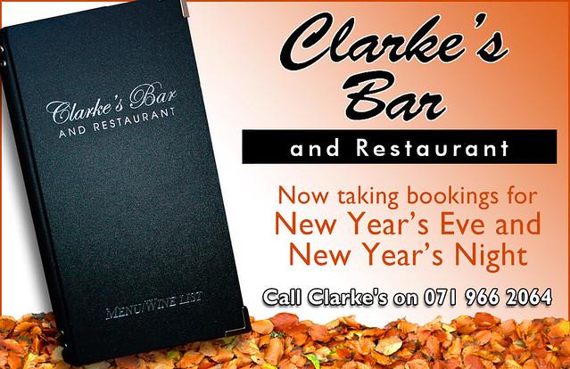 Clarkes New Years Bookings