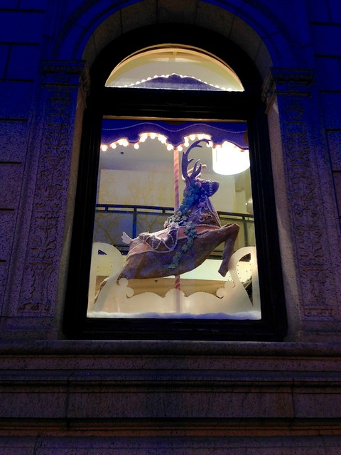 Anthropologie Holiday Window Reindeer