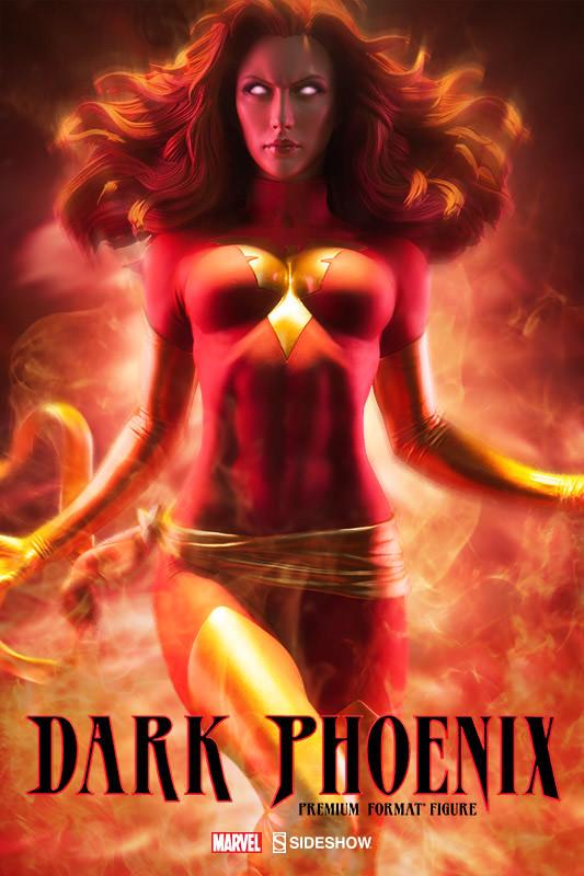 Sideshow Collectibles【暗黑鳳凰。琴葛蕾】Dark Phoenix 1/4 比例 全身雕像