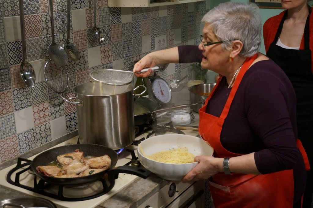 Nonna at the stove