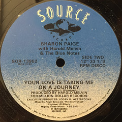 SHARON PAIGE WITH HAROLD MELVIN & THE BLUE NOTES:TONIGHT'S THE NIGHT(LABEL SIDE-B)