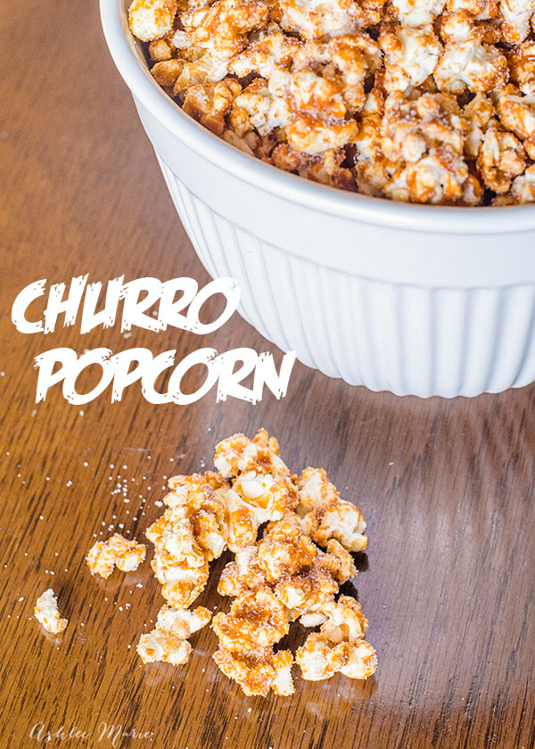 popcorn with a cinnamon crunch, churro popcorn is DELICIOUS and is a hit at parties