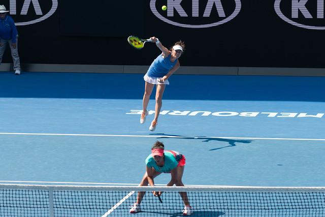 Sania Mirza & Martina Hingis at the Australian Open 2016