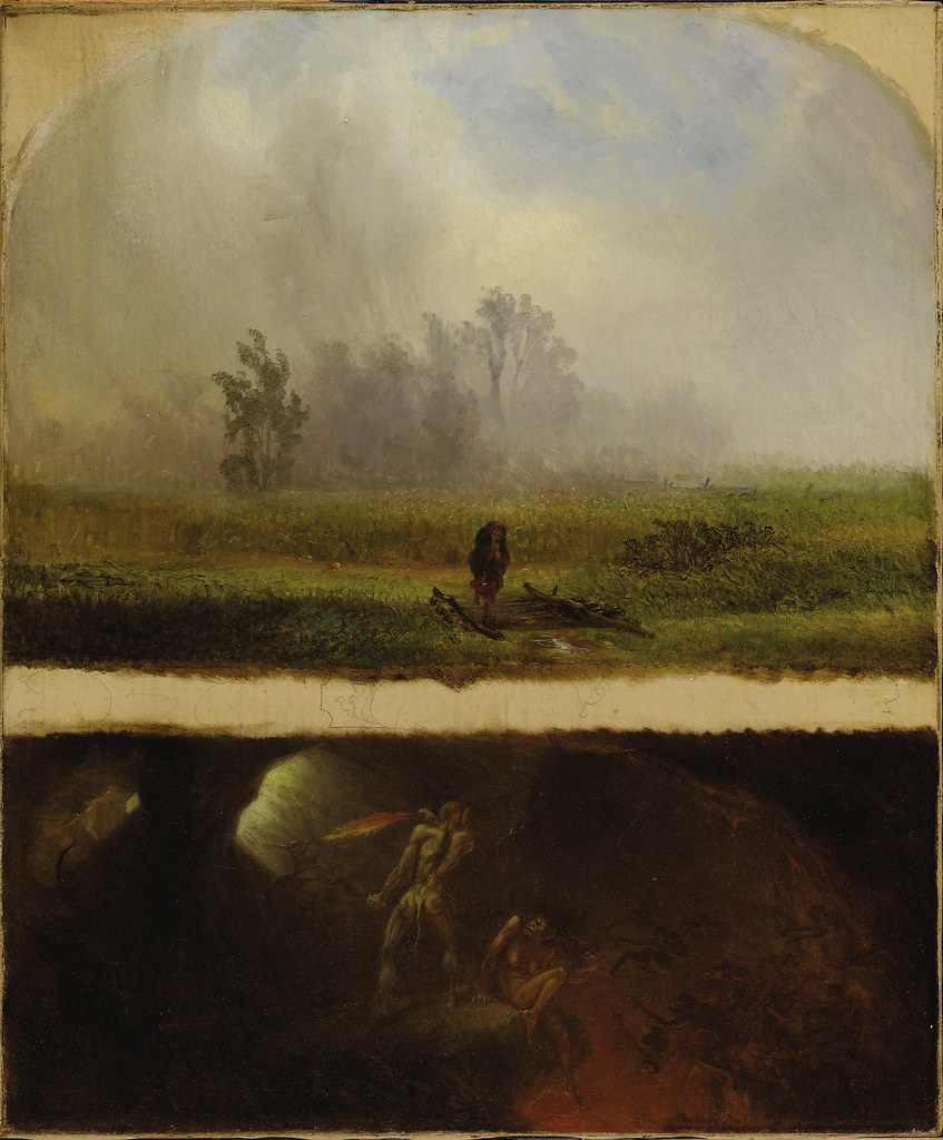 William Holbrook Beard - It Rains It Shines, The Devil Whipping His Wife, 19th C
