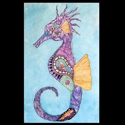 Batik Watercolor Painting by Jennifer Vaughan