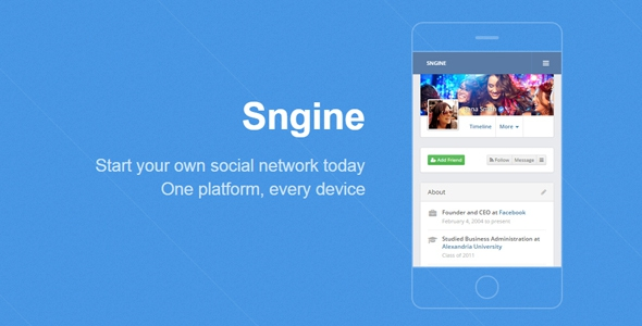 Sngine v2.5.8 - The Ultimate Social Network Platform