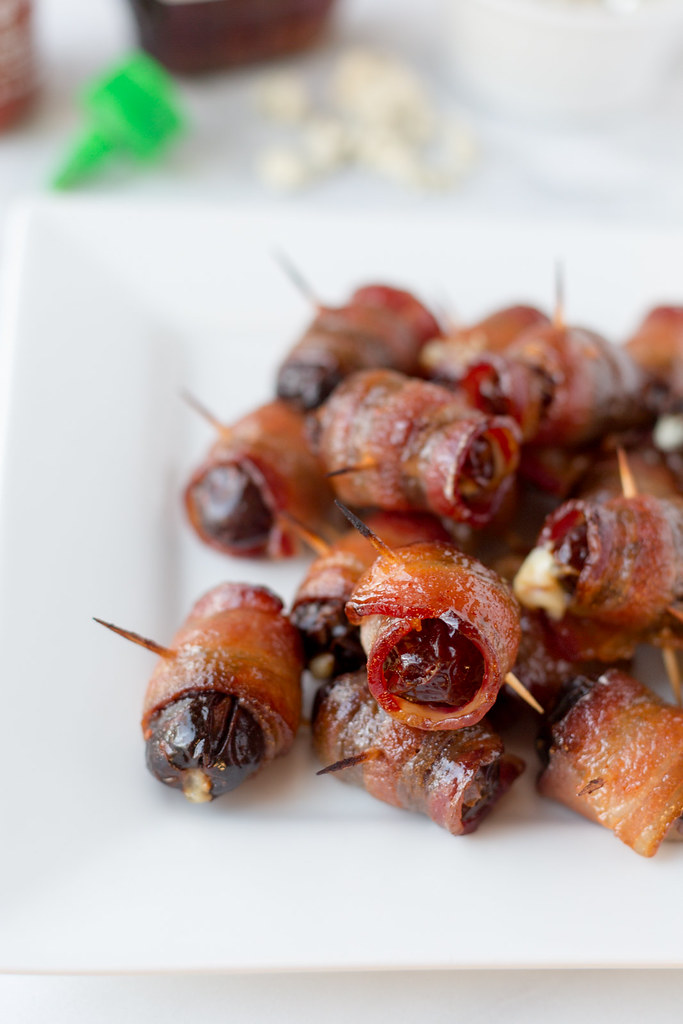 closeup of maple sriracha devils on horseback