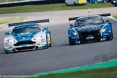 Oman Team Racing Aston Martin Vantage GT3 and Ecurie Ecosse BMW Z4 GT3 British GT Rockingham 2015 Sportscar Racing News