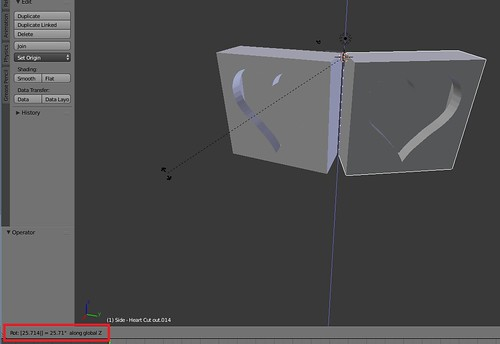 Blender - Rotate 25.714 along Z Axis
