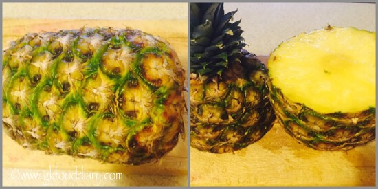 Fresh Pineapple Juice Recipe for Babies, Toddlers and Kids - step 1