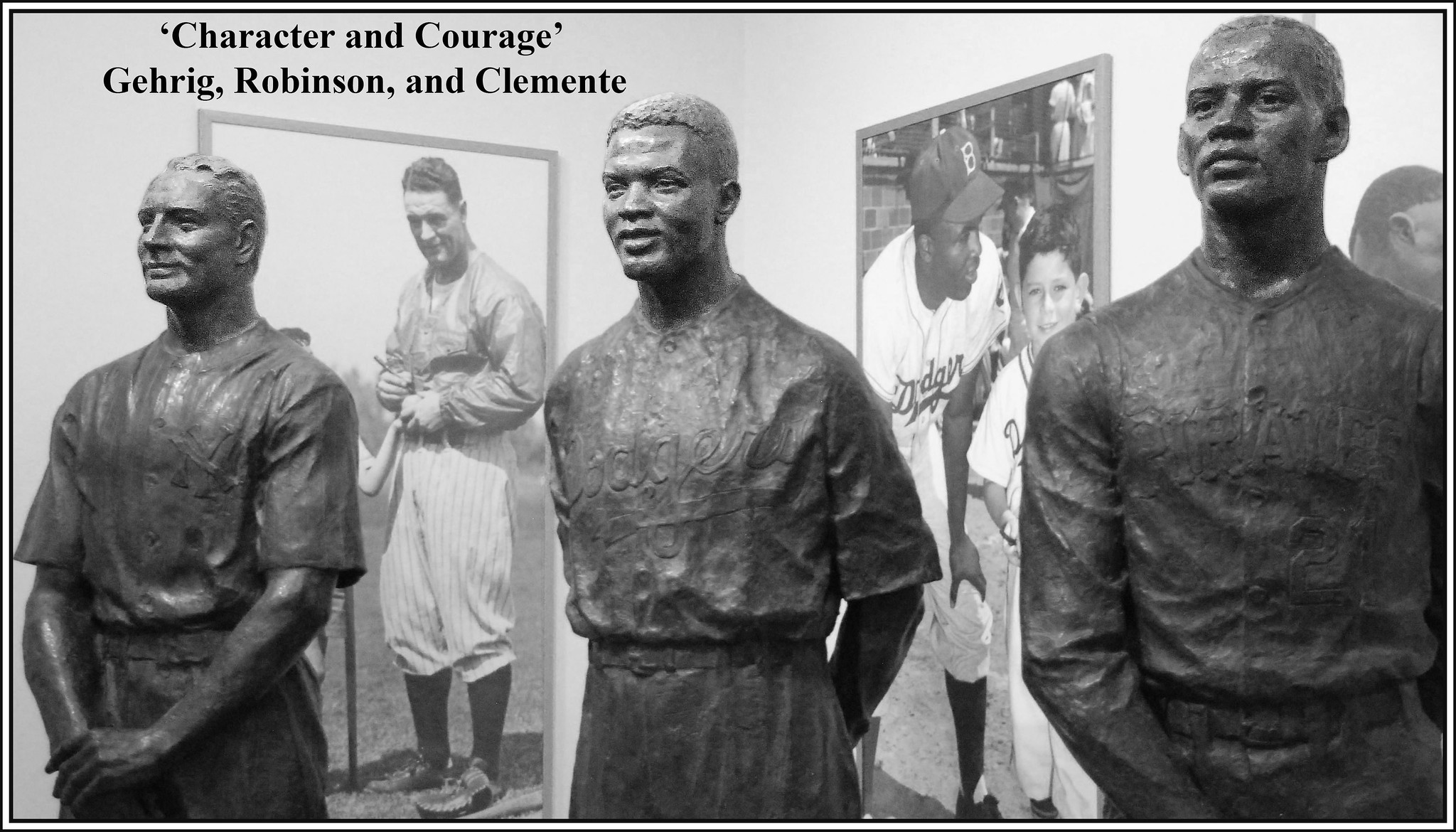'Character and Courage' -- Gehrig, Robinson, and Clemente at the Baseball Hall of Fame Cooperstown (NY) 2016