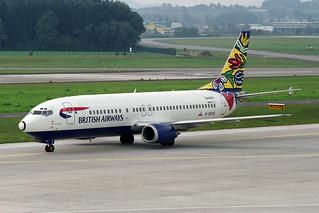 "British Airways Boeing 737-436 G-DOCE ""Blomsterang/Flower Fields"""