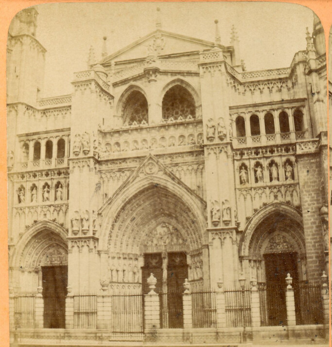 Catedral de Toledo en 1868 fotografiada en vista estereoscópica por Jean Andrieu