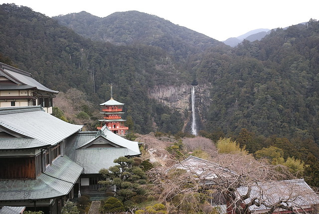 青岸渡寺から那智の滝