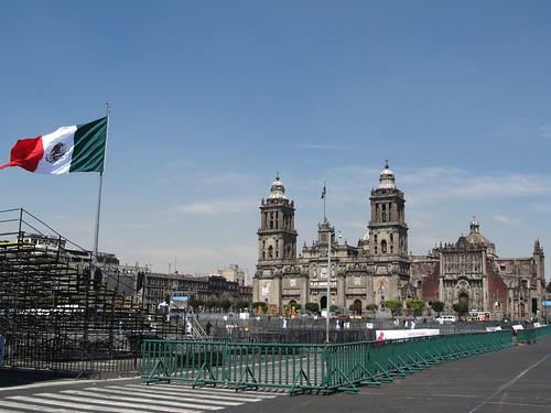Mexico City: la Place Zocalo et sa Cathédrale Métropolitaine