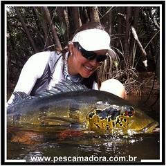 """Mariana Braga, apresentadora do programa de pesca """"A Pescadora"""" na FishTv com um belo açúzão.  As mulheres mostrando que a pesca não impõe barreiras.  #pescaamadora #pesqueesolte #baitcast #pescaesportiva #sportfishing #fishing #angler #monsterfish #bigfi"""