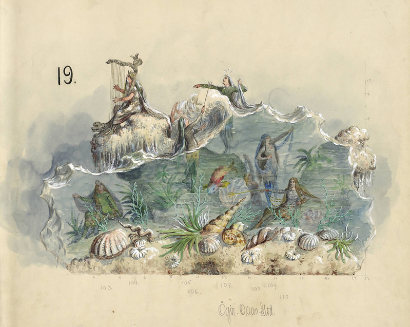 Carlotta Bonnecaze - Ogir The Ocean God, float design from Krewe of Proteus, 1895