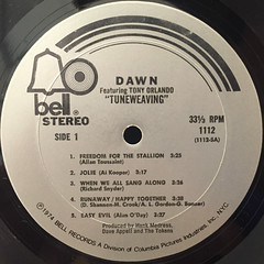 DAWN:TUNEWEAVING(LABEL SIDE-A)