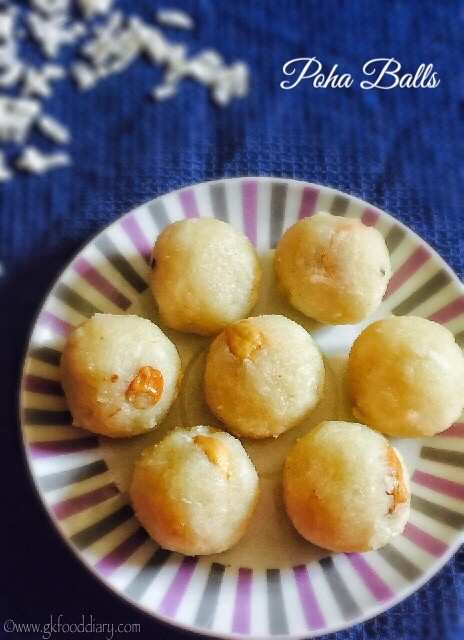 Poha Balls Recipe for Babies, Toddlers and Kids3