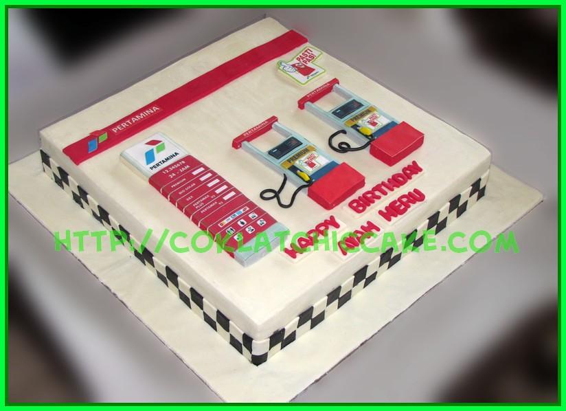 Cake SPBU Pertamina - Bapak Heru