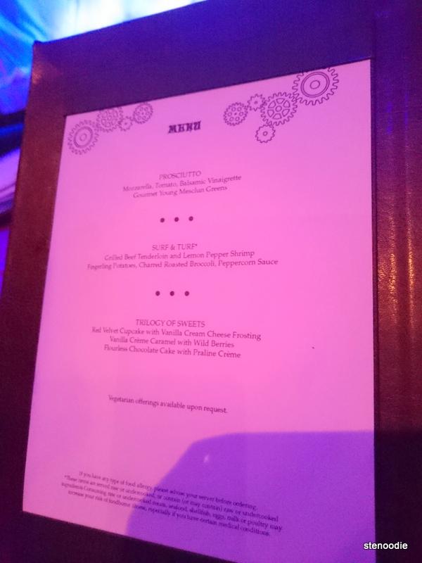 Illusionarium prix fixe dinner menu