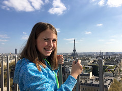 Abbie and Eiffel Tower