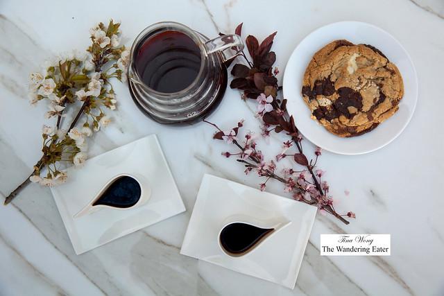 Cups of coffee in Alessi's E-LI-LI mocha cups