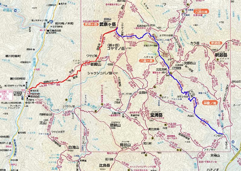武奈ヶ岳地図