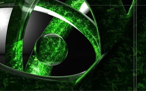 Green Abstract Wallpaper HD