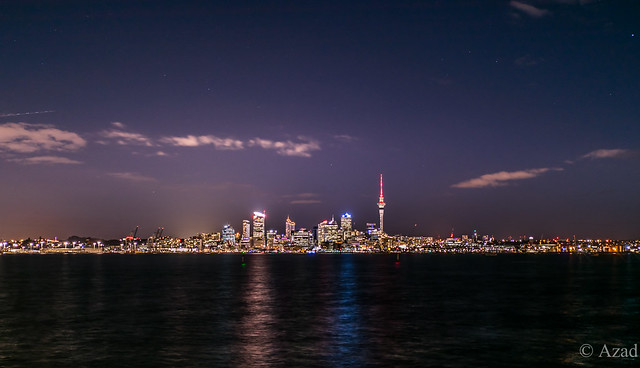 Auckland, New Zealand at night