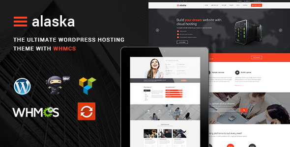 Themeforest Alaska v1.5 - SEO WHMCS Hosting, Shop, Business Theme