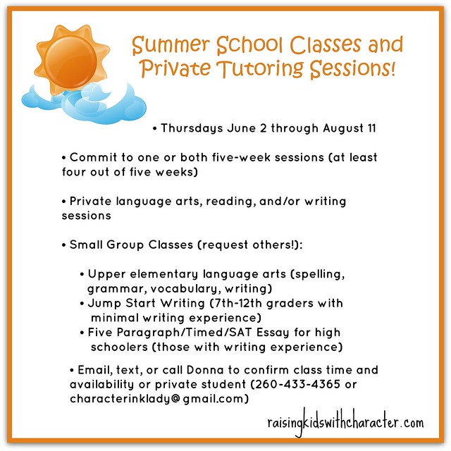 Summer School Classes and Private Tutoring Sessions
