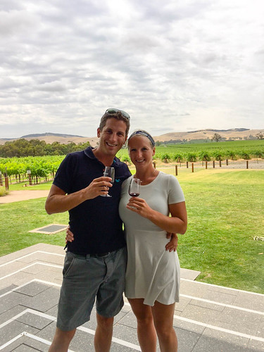 Der erste Wein im Barossa Valley