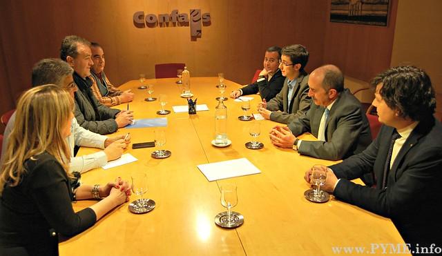 Encuentro del Comité Ejecutivo de CONFAES con el PSOE de Salamanca.