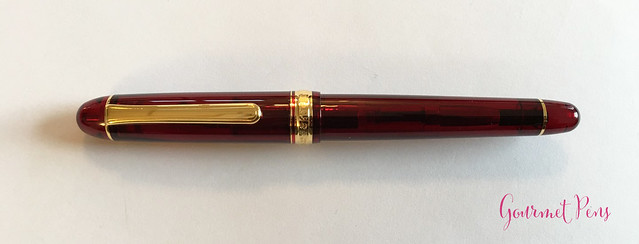 Review Platinum #3776 Century Bourgogne Fountain Pen - Soft-Fine @PenChalet @CarolLuxury (10)