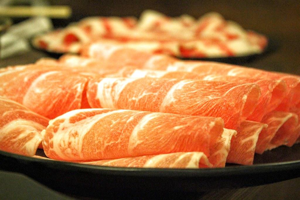豬肉片切盤,一樣現切