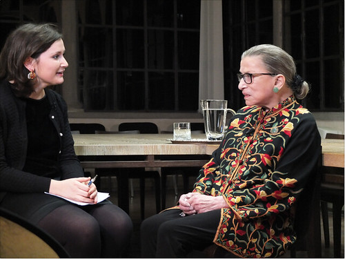 EUI journalist Olivia Arigho-Stiles interviews Justice Ruth Bader Ginsburg