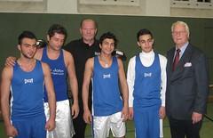 Flüchtlinge trainieren bei BC Sportmann