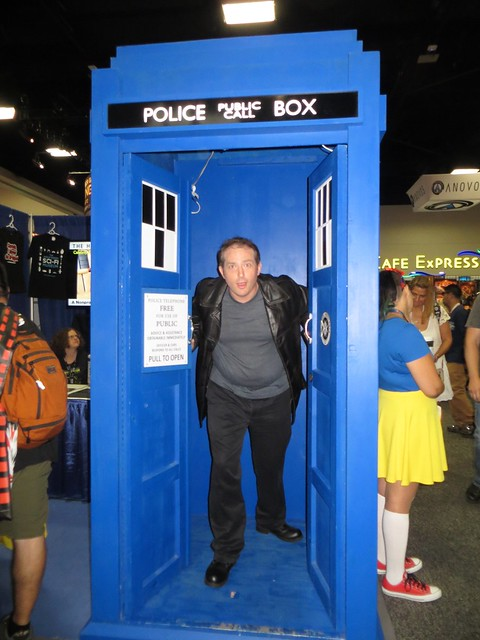 TARDIS at Hollywood Sci-Fi Museum Booth courtesy of Christopher Erickson