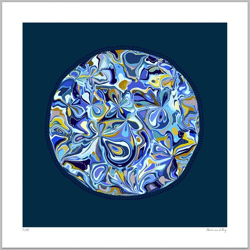 Abstract Blue Giclee Print