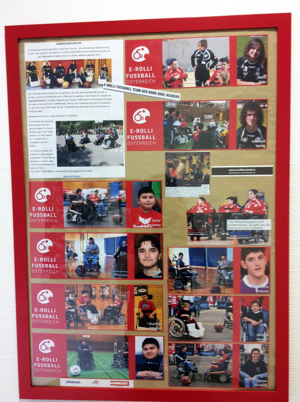 Plakate in der Hans-Radl Schule