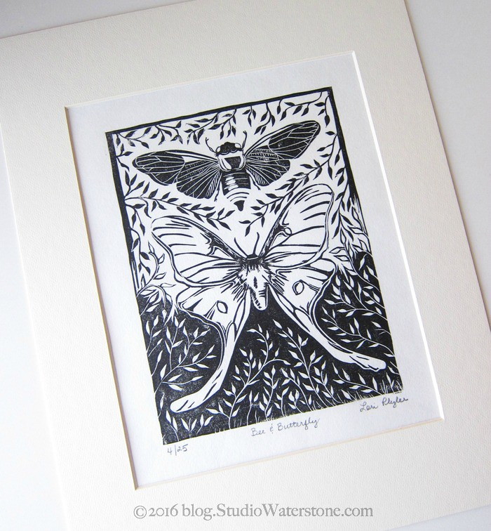 52 Weeks of Print: 43/52 Bee & Butterfly Print