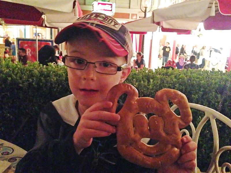 Braden's Mickey Mouse Pretzel