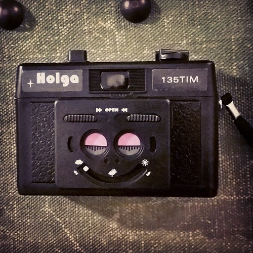 Holga 135 TIM. Half frame #35mm #film camera. Cute or Creepy ? You decide