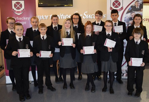 Cullybackey College's February Achievement Certificate winners