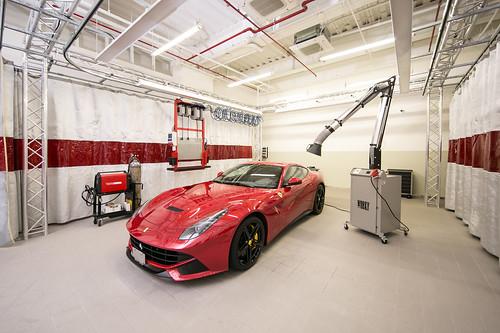Ferrari 法拉利臺北旗艦售後服務暨展示中心 鋁合金工作站