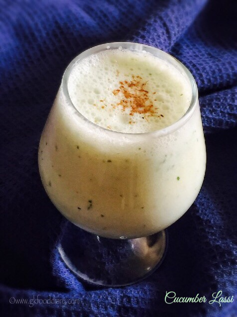 Cucumber Lassi Recipe for Babies, Toddlers and Kids