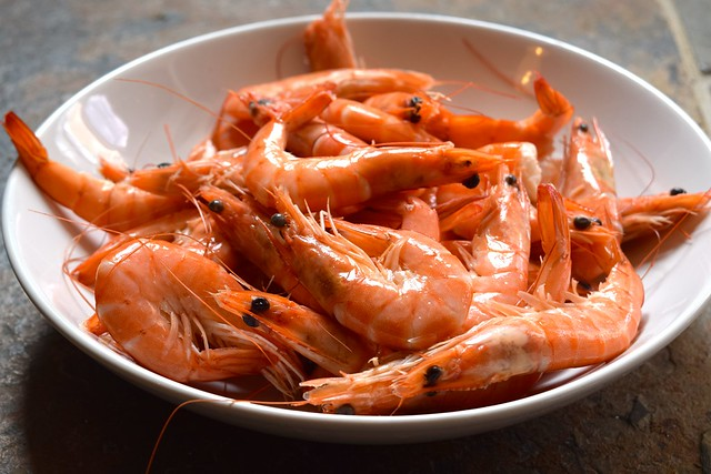 Local Prawns in Brittany, France | www.rachelphipps.com @rachelphipps